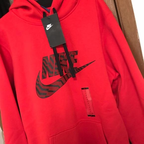 2847eb73c Nike Jackets & Coats | Red Hoodie | Poshmark